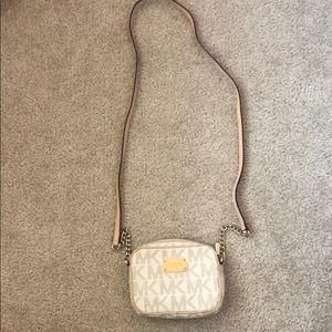 Michael Kors small vanilla Hamilton crossbody bag